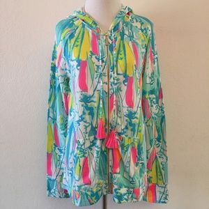 Lilly Pulitzer Mooring Hoody Beach and Bae Size S